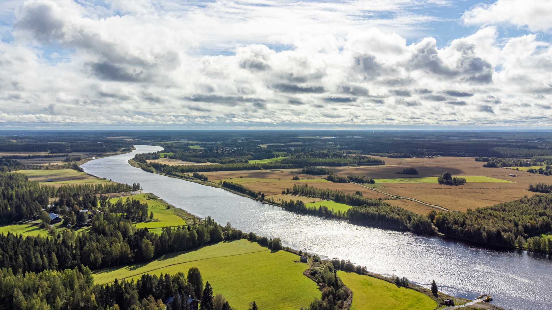 Oulujoki ilmakuva